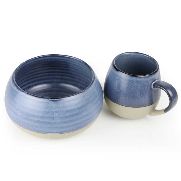 Robert Gordon Morning Hugs - Denim Bowl & Mug Set