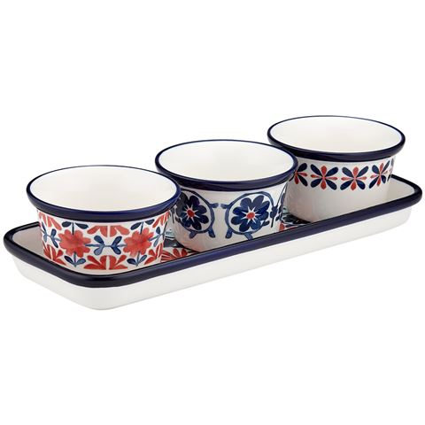 Ladelle Fiesta Red 4pce Bowl Set