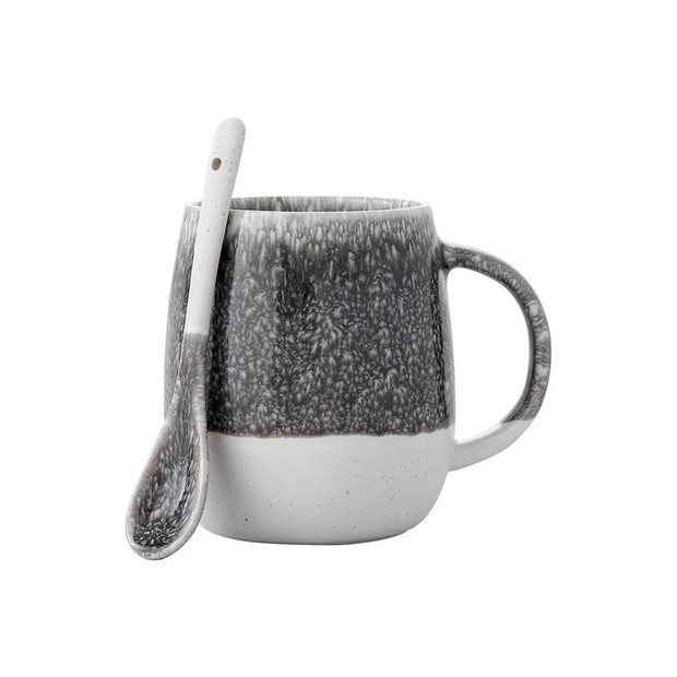 Ladelle Lodge Mug & Spoon Set - Charcoal