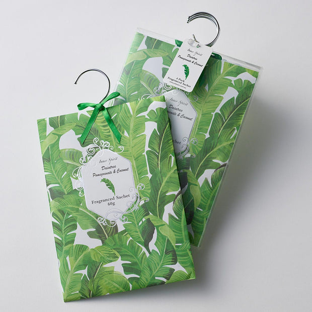 Pilbeam Pomegranate & Coconut Scented Hanging Sachets