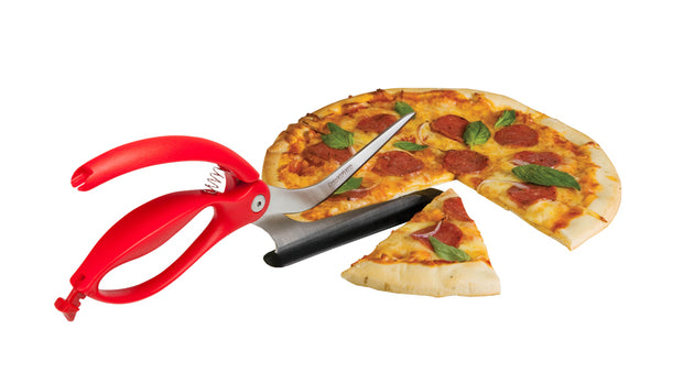 Dreamfarm Scizza Red - Scissors perfectly cut pizza!