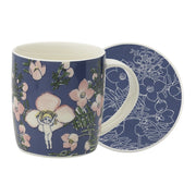 May Gibbs Flower Babies Blue Mug & Coaster
