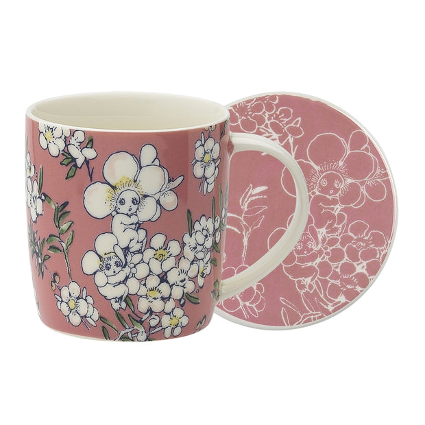 May Gibbs Flower Babies Pink Mug & Coaster