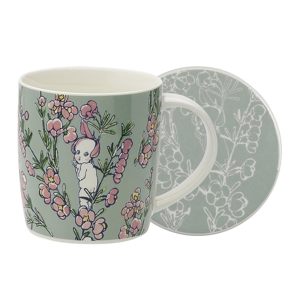 May Gibbs Flower Babies Light Green Mug & Coaster