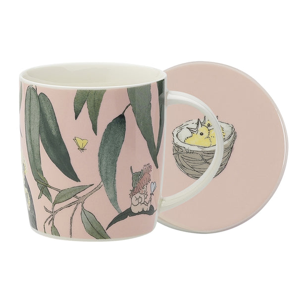 Ecology Mug & Coaster Set Gumnut Babies Pink 320ml