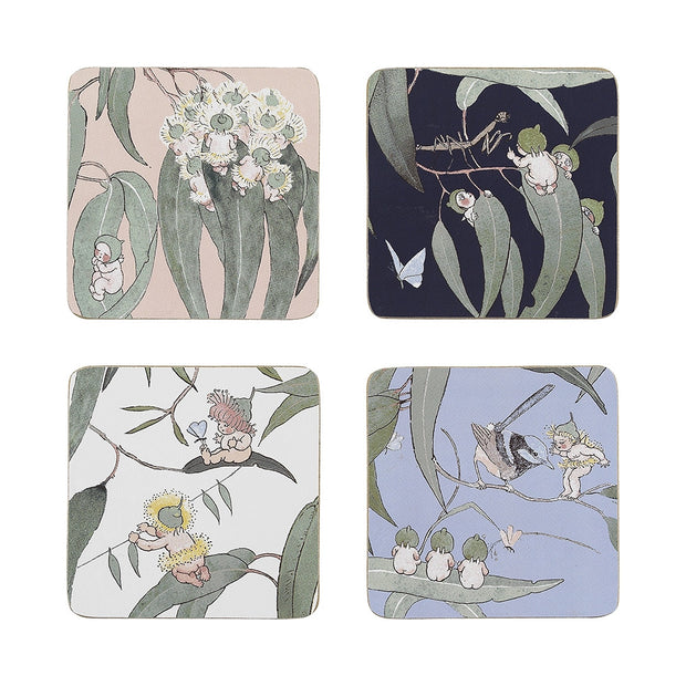 May Gibbs Gumnut Babies Set of 4 Coasters