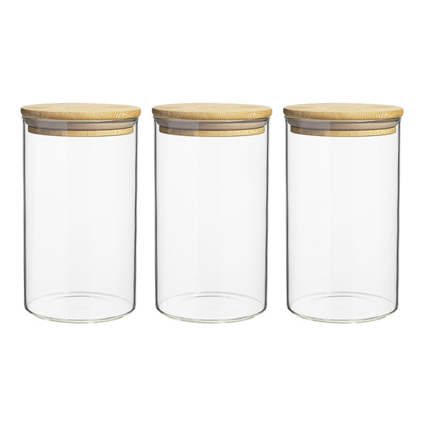 Ecology Pantry Set of 3 Round Canisters