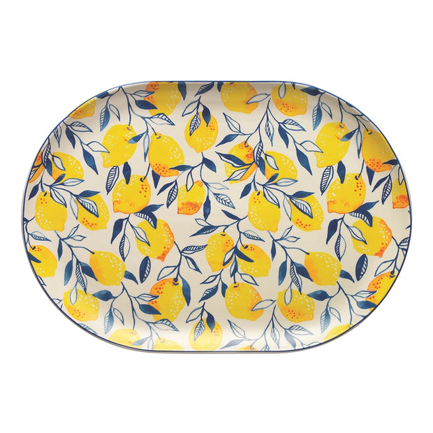 Ecology Punch Lemon Large Oval Platter