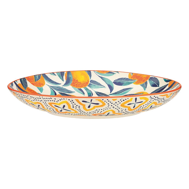 Ecology Punch Orange Large Shallow Bowl