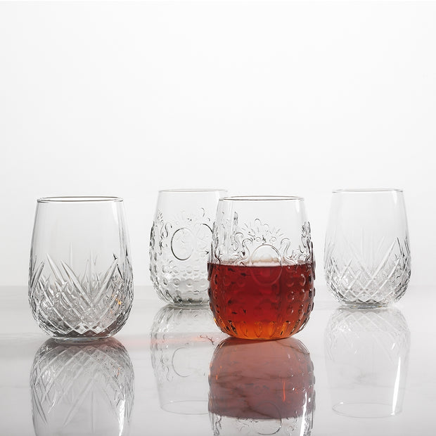 Carmen Set of 6 Stemless Wine Glasses 490ml