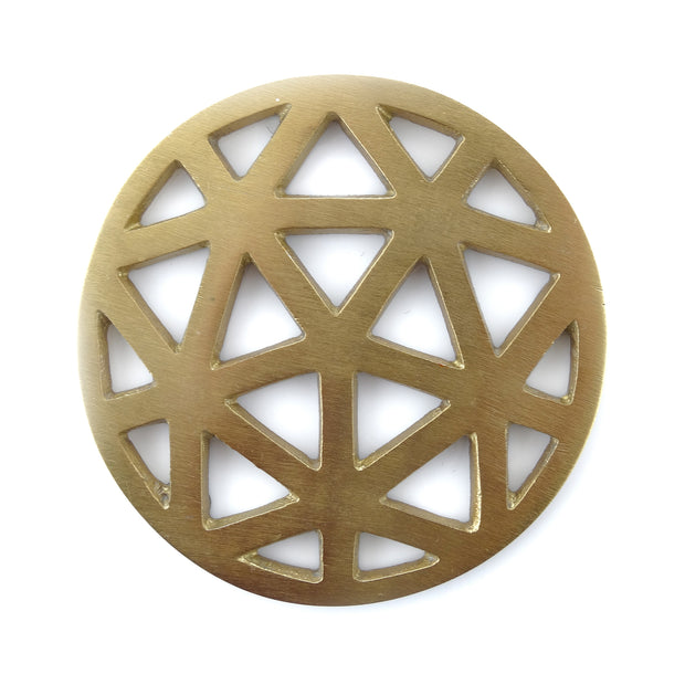 Thirstystone Gold Geometric Cut Coaster Set