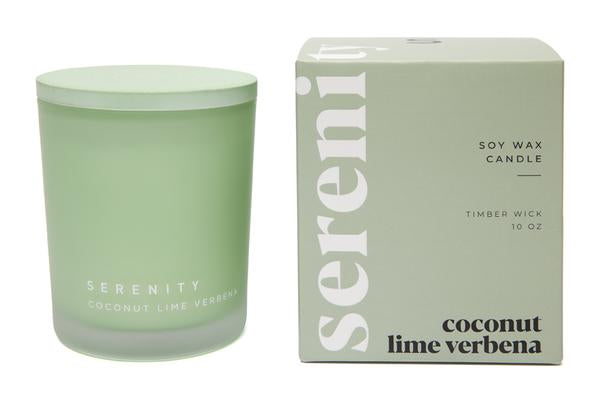 Coloured Frost Candle - Coconut Lime Verbena