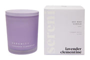 Coloured Frost Candle - Lavender Clementine