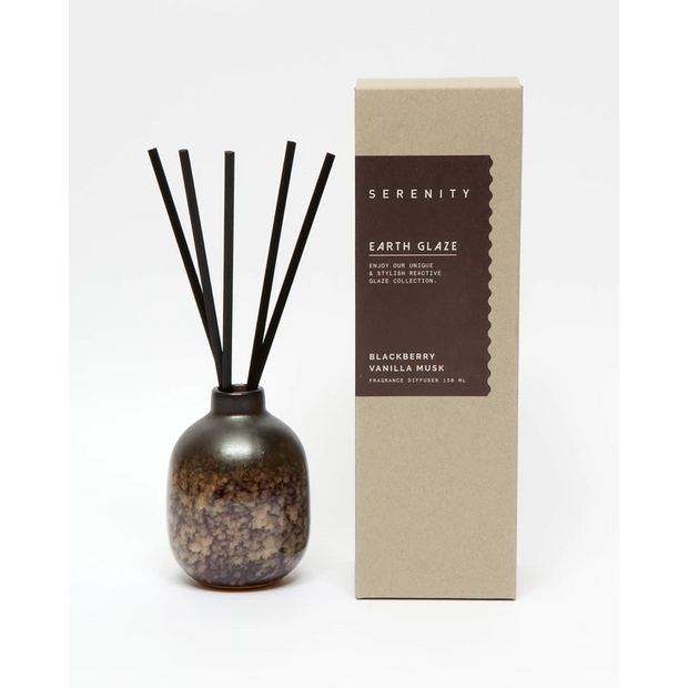 Earth Glaze Reed Diffuser - Blackberry Vanilla Musk