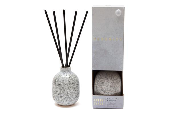 Serenity Earth Glaze Reed Diffuser - White Tea and Ginger