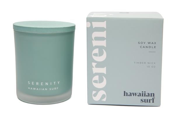 Coloured Frost Candle - Hawaiian Surf