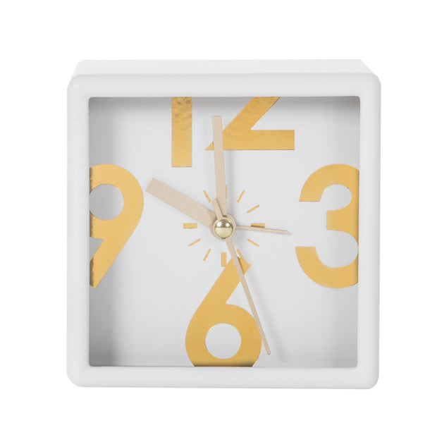 Emporium Lani Mantle Clock - White
