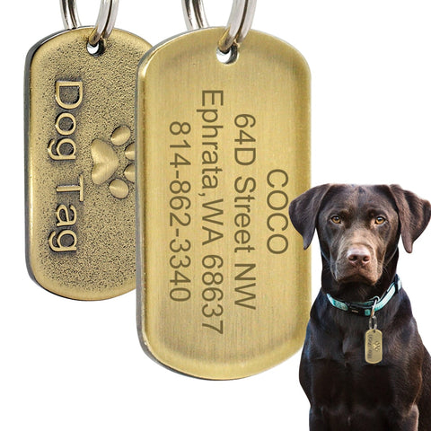Be A Man Custom Engraved Tag