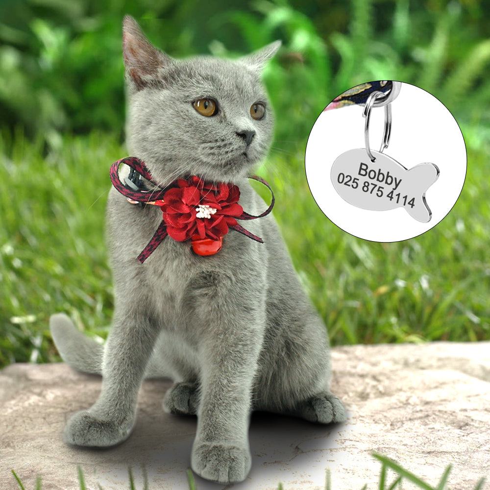 Quick Release Personalized Cat ID Collars