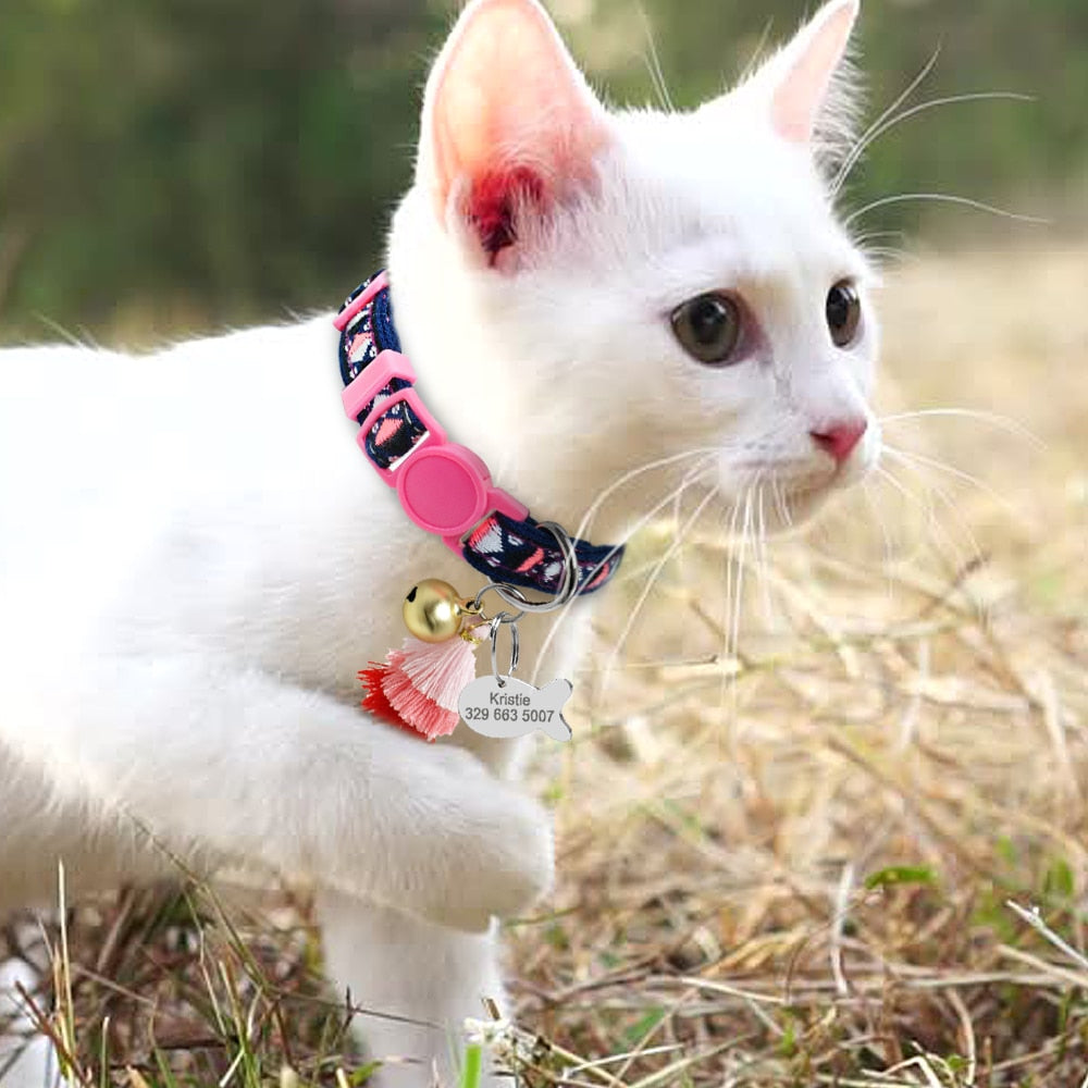 Personalized Cat Collar With Bell