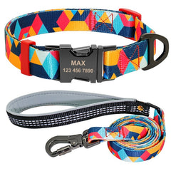 Nylon Dog Collar Leash Set