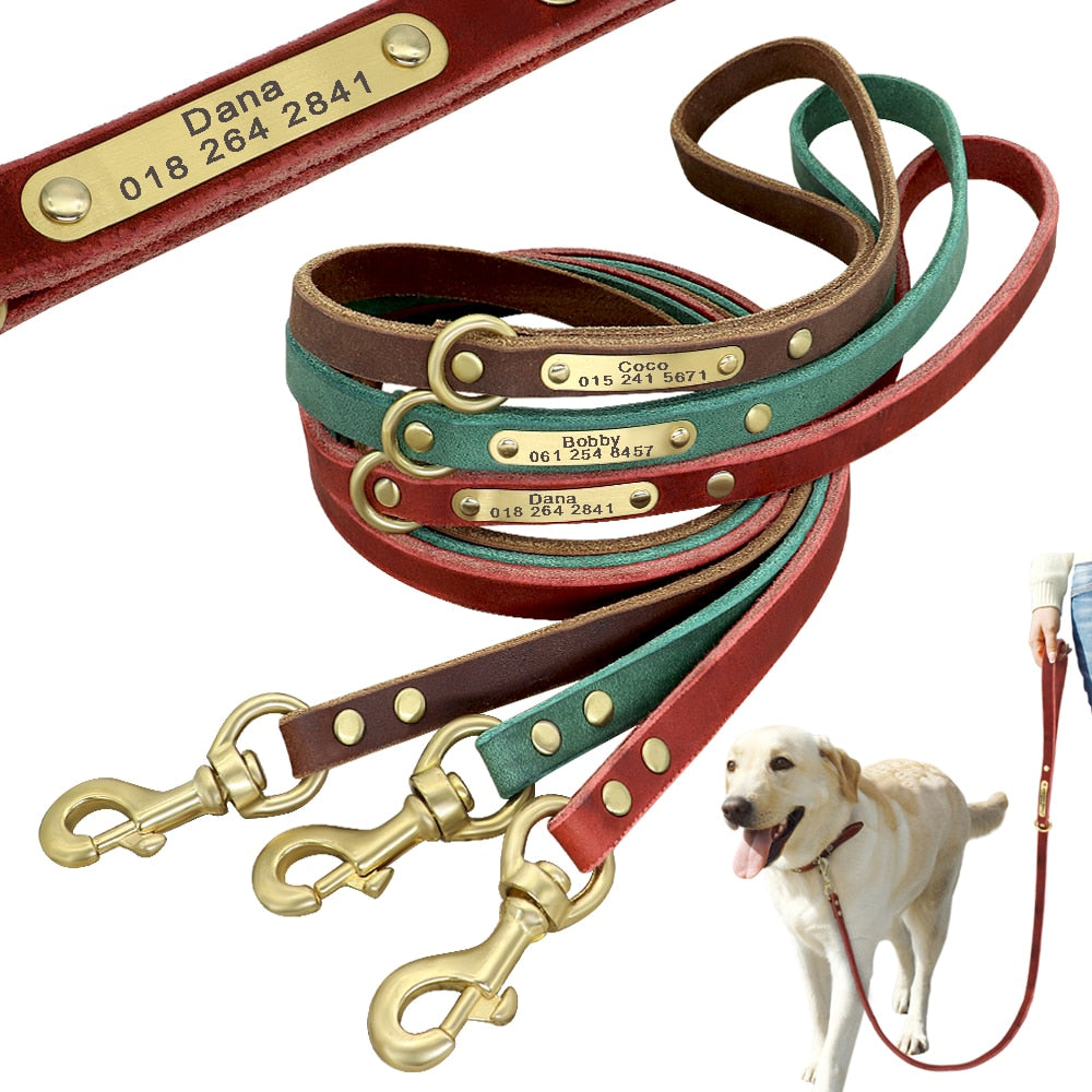 Personalized Leather Leash