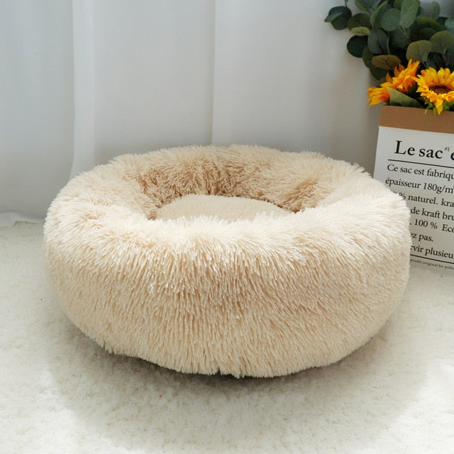 Round Plush Happy Bed For The Furry