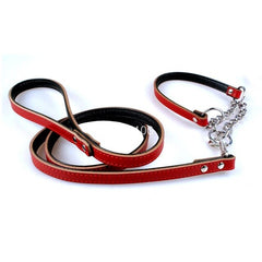 Hurry, Let's Go Leather Dog Leash