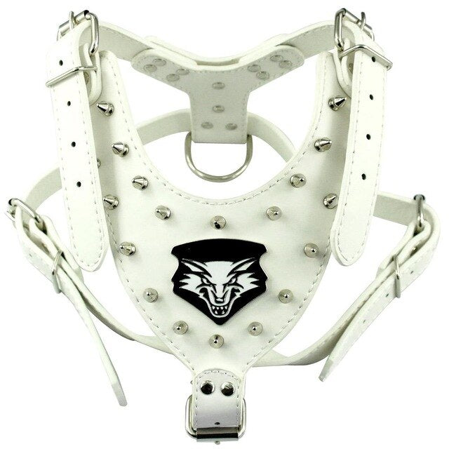 Wolfe Up Spiked PU Leather Dog Harness