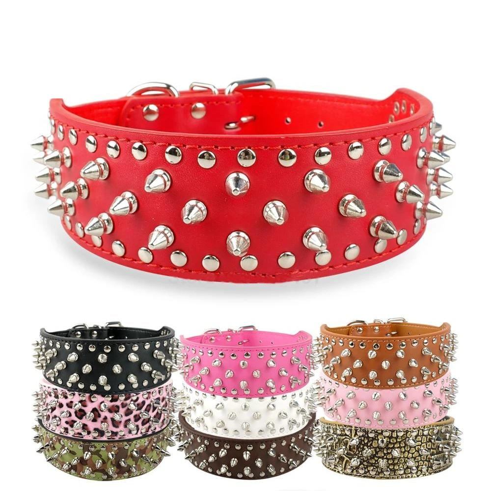 Fierce Spiked Studded Leather Collars