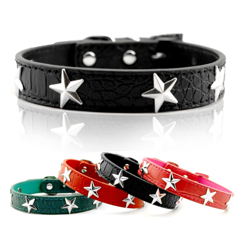 The Star Pu leather Collar