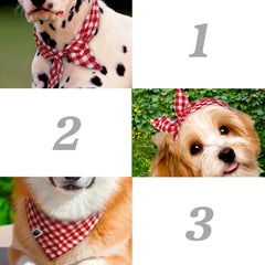 5pcs Dog Bandana Plaid Scarf Bow ties
