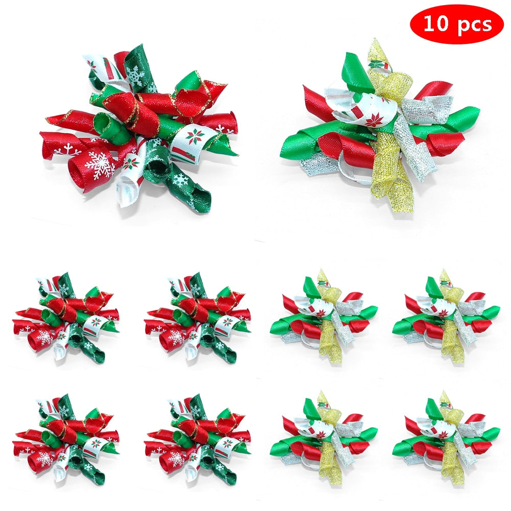 10pcs Handmade Fashion Hair Bowknot