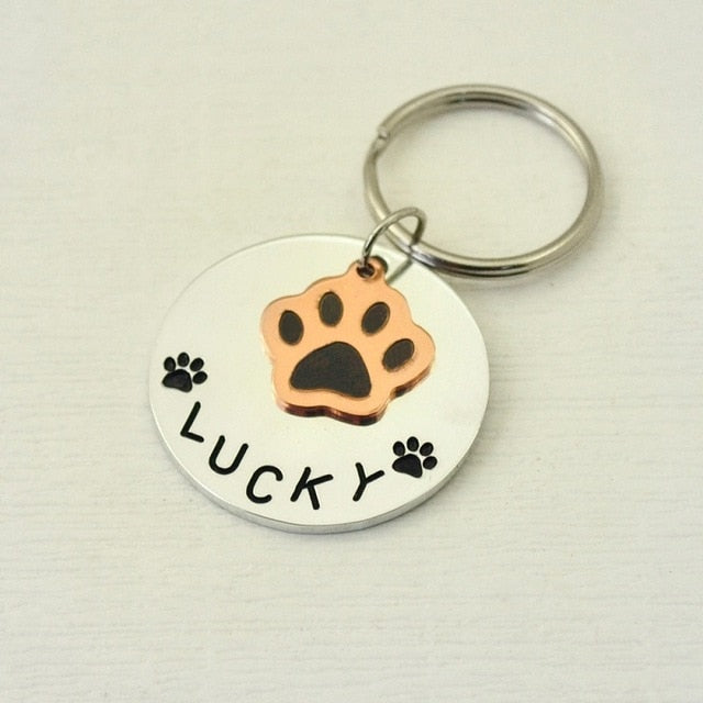 Cute Paw Custom Dog ID Tag