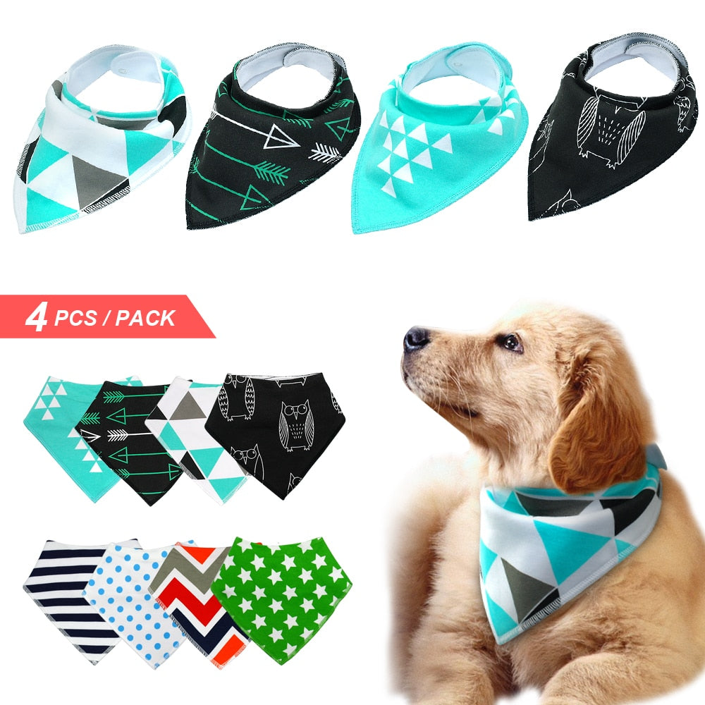 Beautiful 4pcs Bandana Bib Scarf