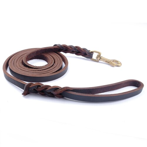 Genuine Leather Dog Leash