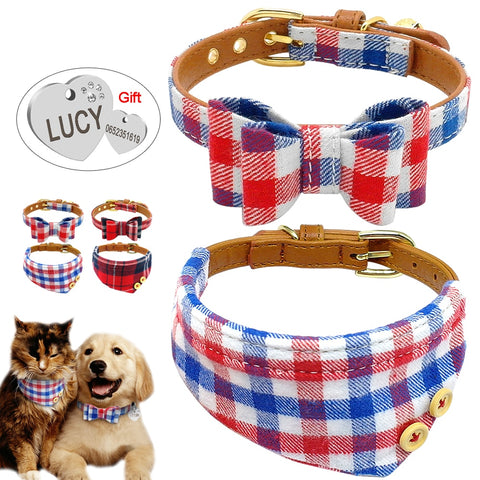 Double Up Collars and ID Tag Set