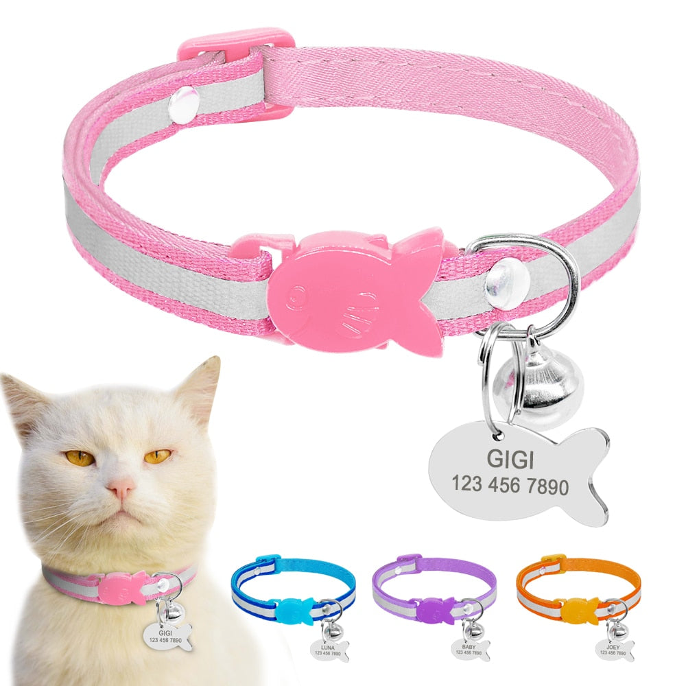 Quick Release Reflective Cat Collar