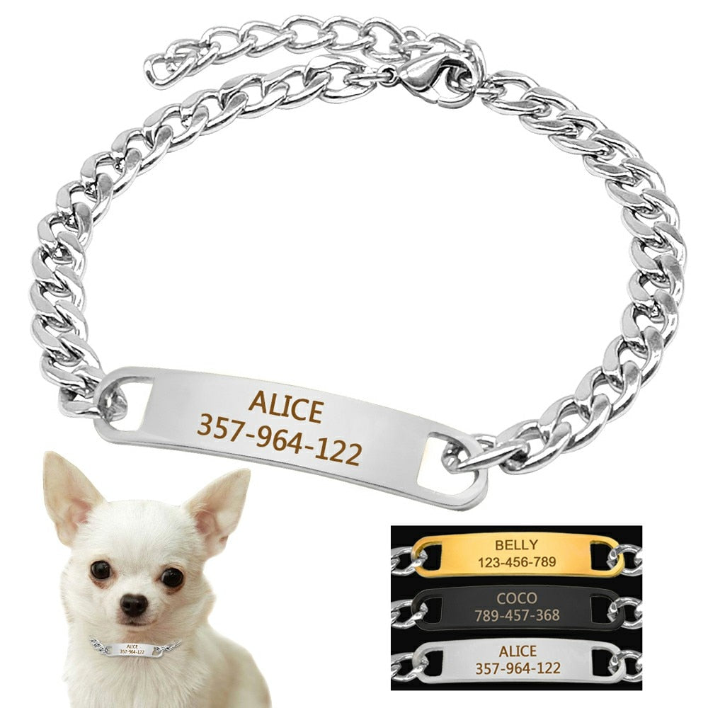 Call Me If You Read My Name Collar + ID Tag