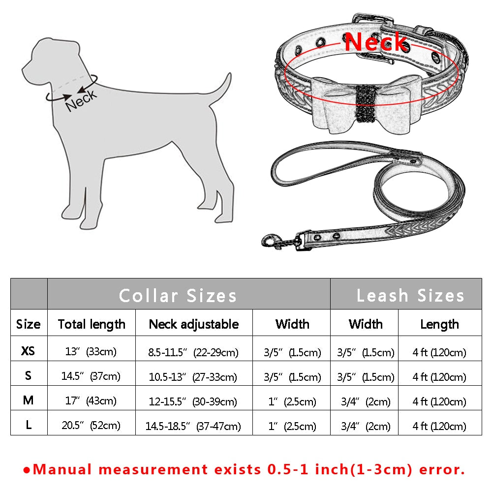 Cuteness Dog Pet Collar and Leads Set