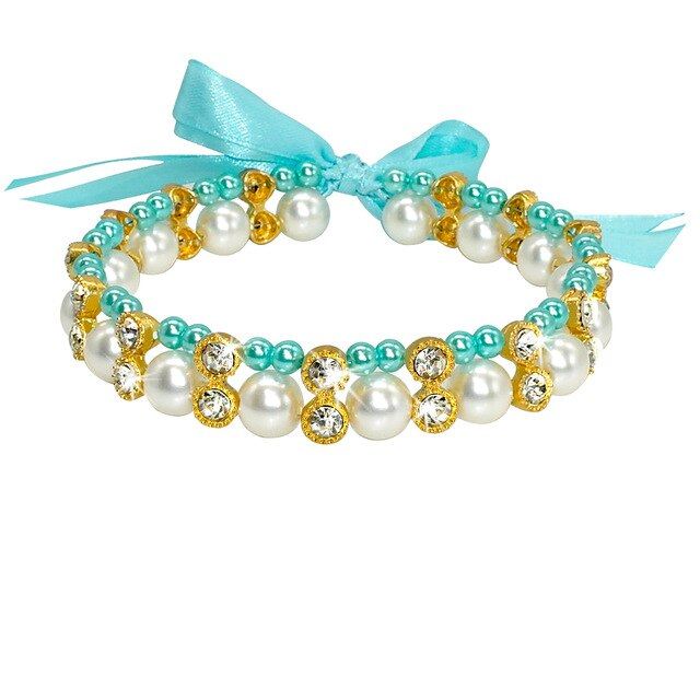 Crystal Pearl Dog Necklace Collar
