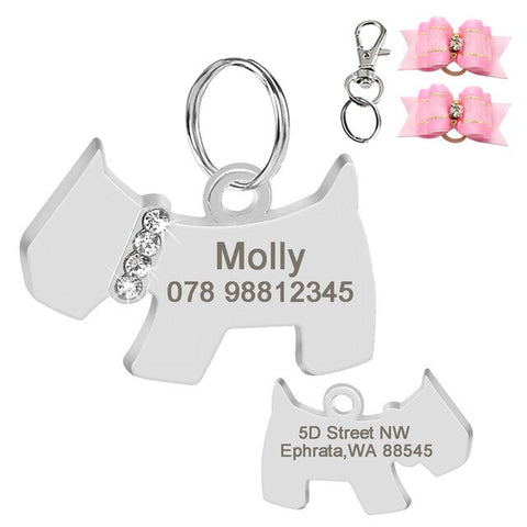 Personalized Dog Figure ID Tag