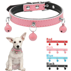 So Cute Leather Collar  With Bells