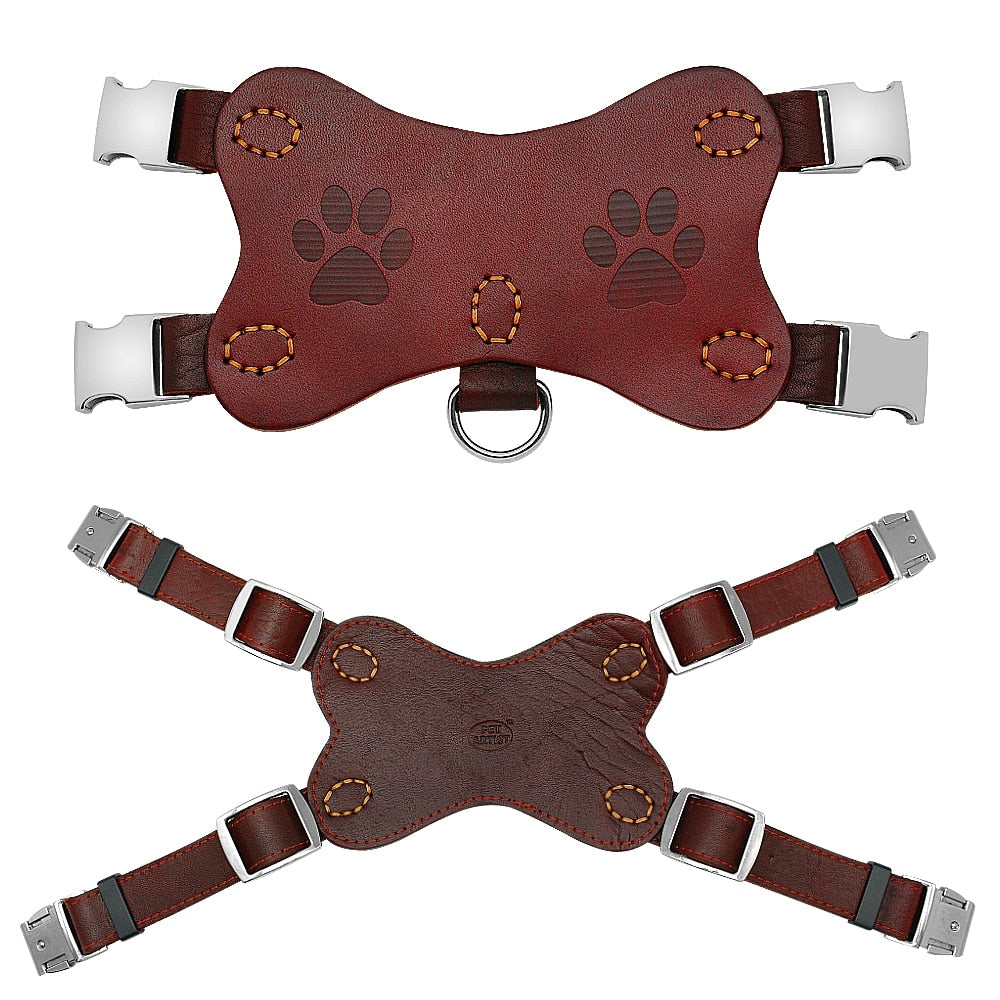 Leather Dog Harness No Pull
