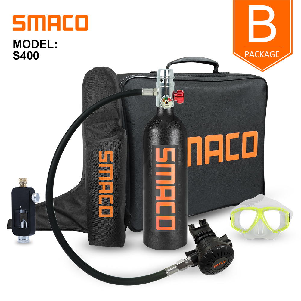 Smaco Mini Scuba Diving Kit 1L Capacity for 20 Minutes