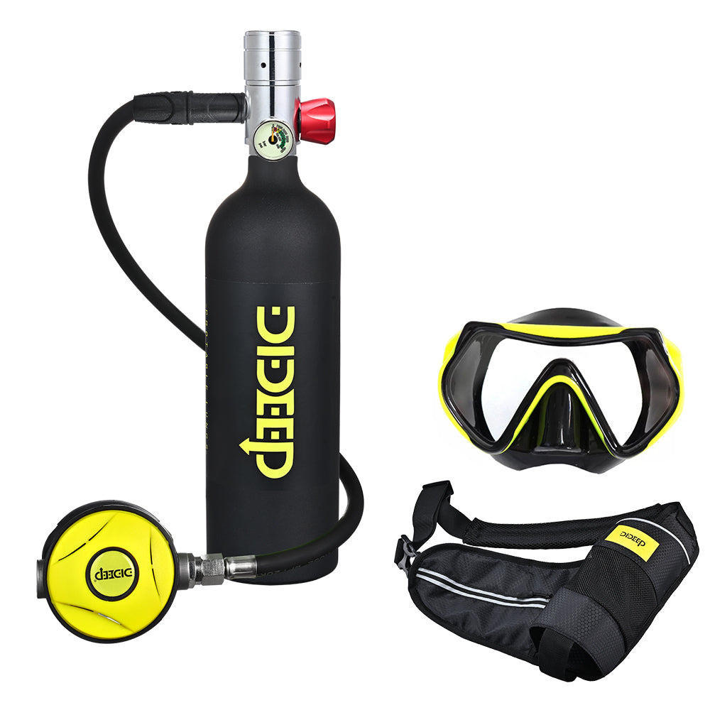 Dideep 1L Dive Oxygen Tank Kit with Goggles