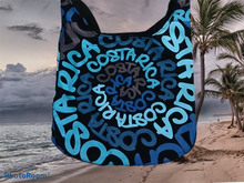 Load image into Gallery viewer, Bolsa Ajustable Pequeño Espiral Celeste