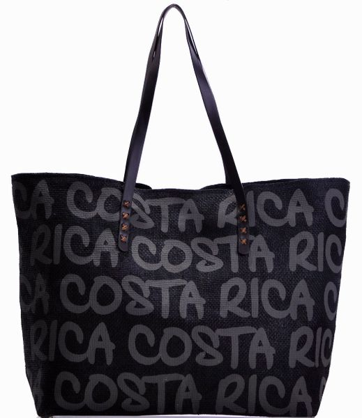 Bolsa de Playa Tipo Yute de Color Charcoal