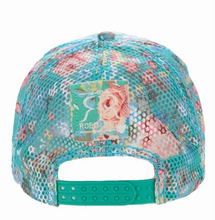Load image into Gallery viewer, Gorra Mujer Turquesa Flores