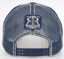 Laden Sie das Bild in den Galerie-Viewer, Gorra Hombre Country Azul con Rojo Mesh
